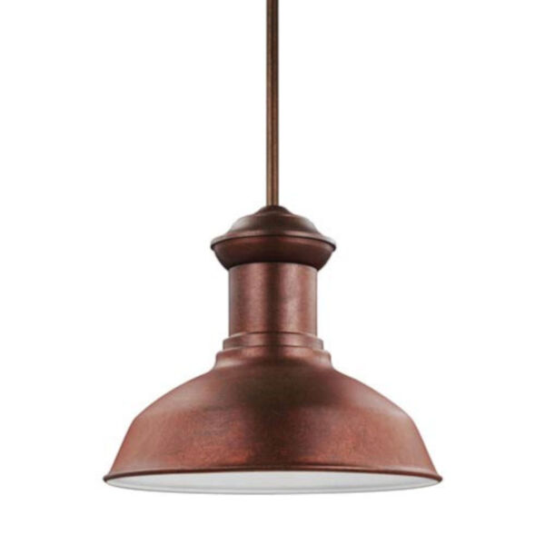 Lex Weathered Copper One-Light Outdoor Pendant, image 1