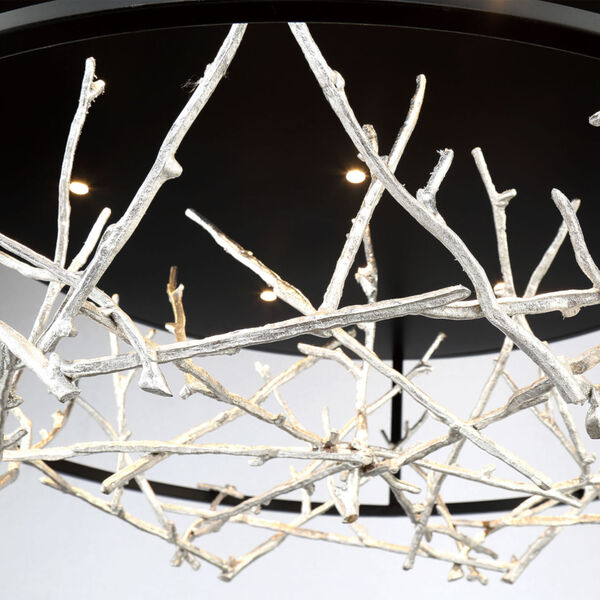 Aerie Black and Silver Seven-Light Round LED Chandelier, image 2