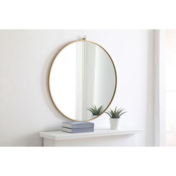 Eternity Brass Round 32-Inch Mirror with Hook, image 4