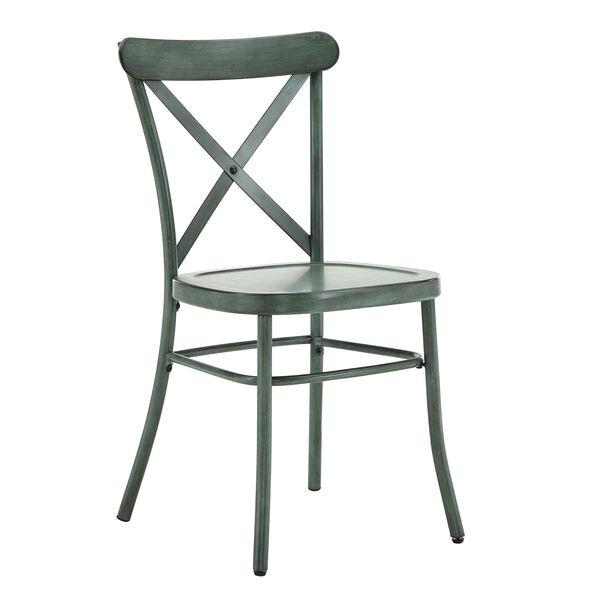 Roman Green Metal Dining Chair, image 1