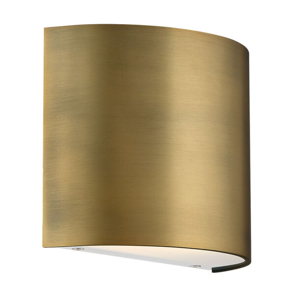 Pocket Aged Brass Three-Inch LED Wall Sconce, image 1