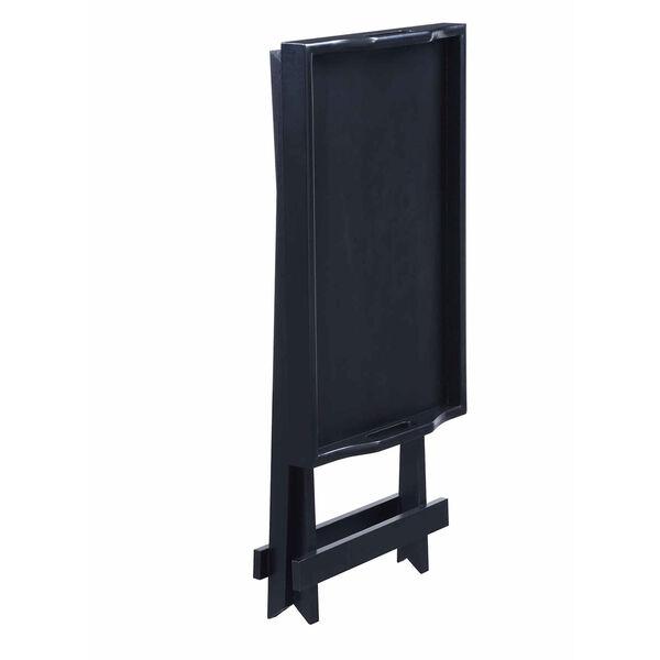 Designs2go Black Folding Tray Table, image 5