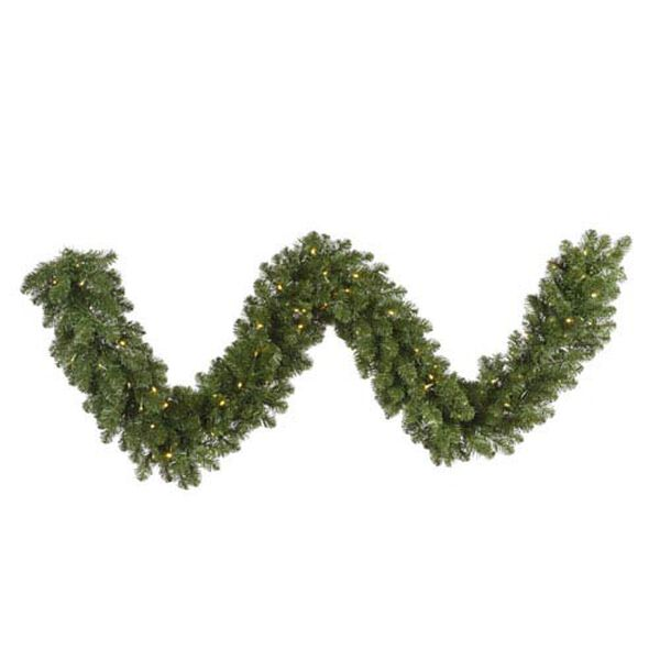 Grand Teton 25-Foot Garland w/300 Warm White Wide Angle LED Lights and 750 Tips, image 1