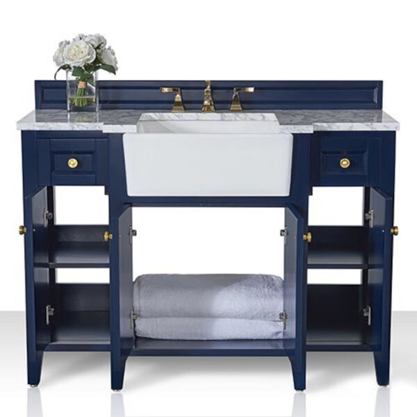 Adeline Heritage Blue 48-Inch Vanity Console with Farmhouse Sink, image 5