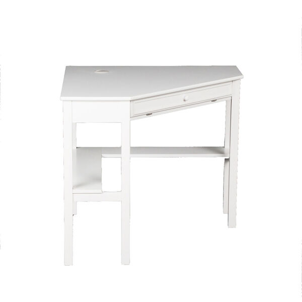 White Corner Computer Desk, image 4