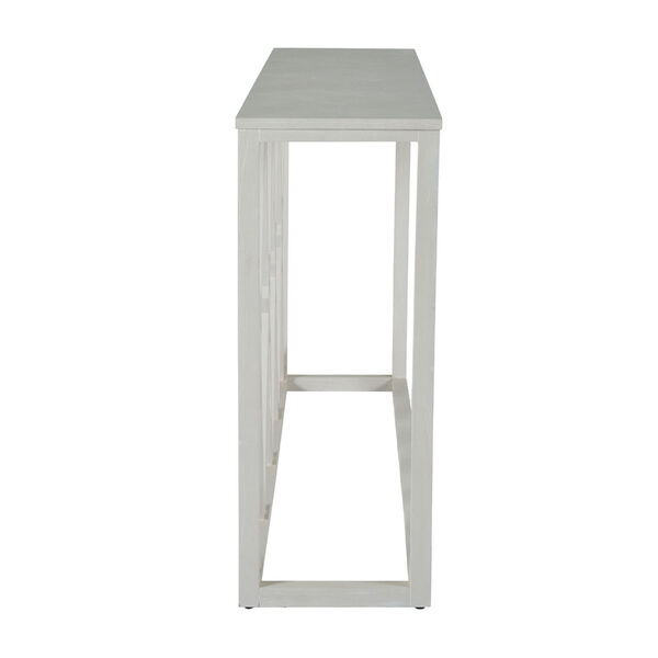 Alandra Cerused White and Stained Gold Console Table, image 3