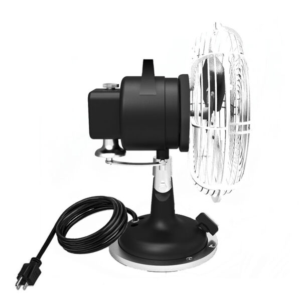 Oscillating Plug-In 8-Inch Desk Fan with Three Speed Motor Control, image 3