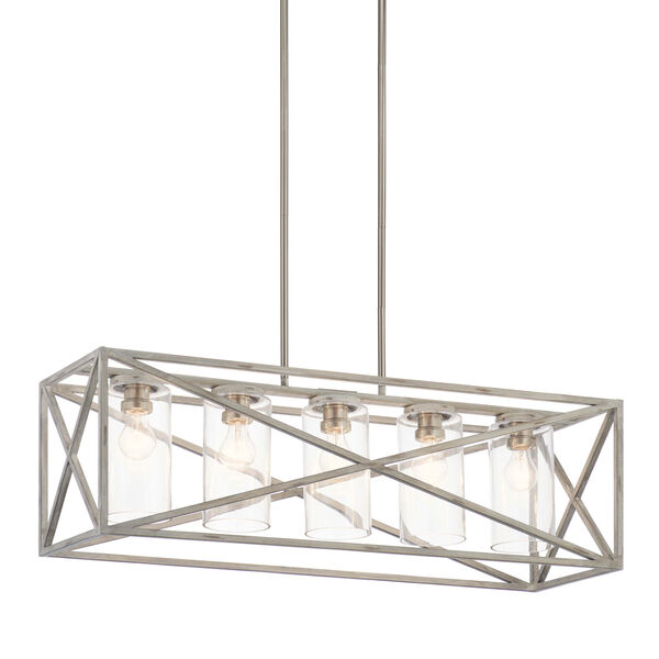 Moorgate Distressed Antique White Five-Light Chandelier, image 5