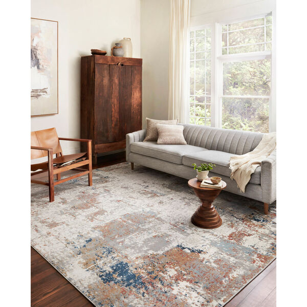 Bianca Ivory, Spice and Blue 9 Ft. 9 In. x 13 Ft. 6 In. Area Rug, image 2
