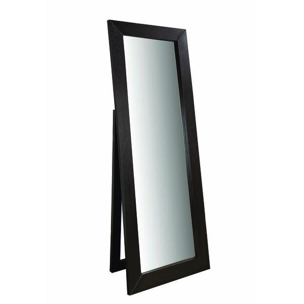 Dark Cappuccino Beveled Frame Floor Mirror, image 1