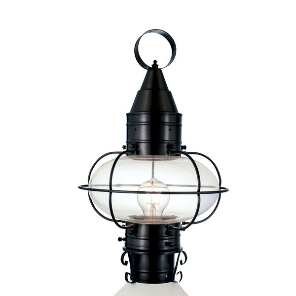 Classic Onion Black One-Light Outdoor Post, image 1