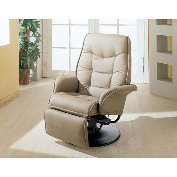 Berri Beige Swivel Recliner with Flared Arms, image 1