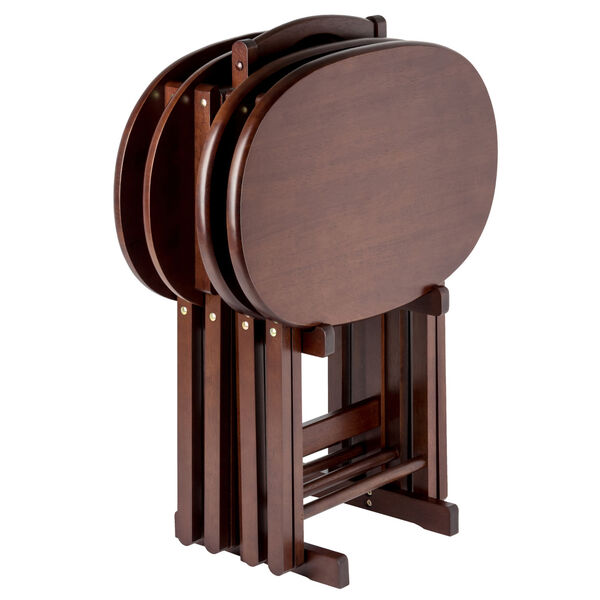 Nathan Cappuccino Five-Piece Snack Table Set, image 4