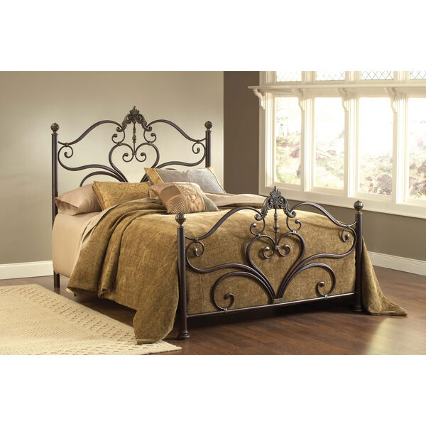 Newton Antique Brown Queen Headboard and Footboard Without Rails, image 1