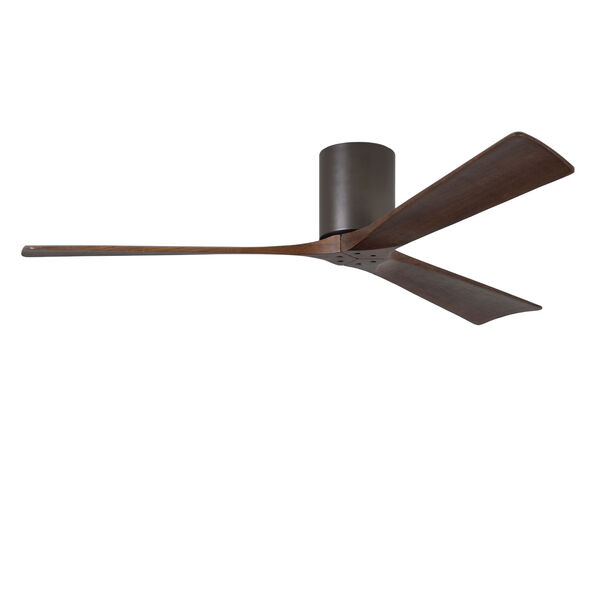 Irene-H Three Blade Textured Bronze 60-Inch Hugger-Style Ceiling Fan, image 1