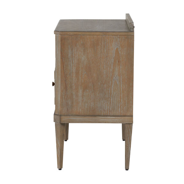 Glenwood Cerused Natural and Antique Bronze Nightstand, image 5