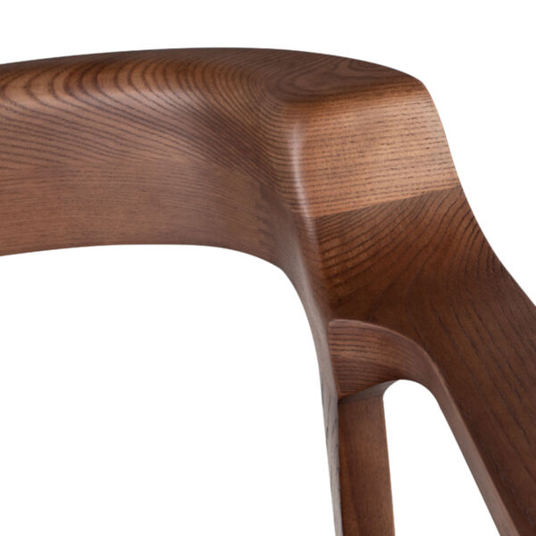 Caitlan Walnut and Black Dining Chair, image 4