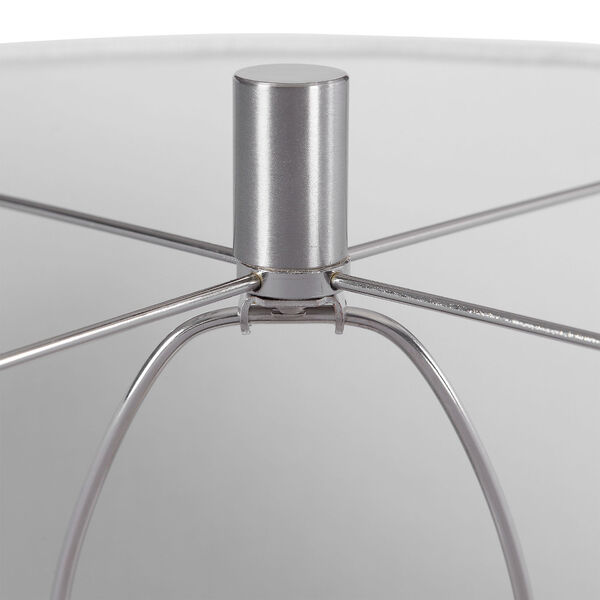 Marisa Brushed Nickel and Off-White Table Lamp, image 4