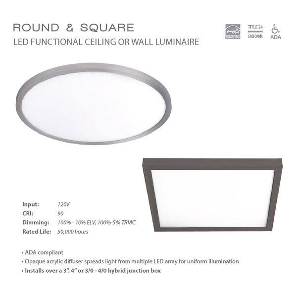 White 11-Inch 3000K LED ADA Round Flush Mount, image 3
