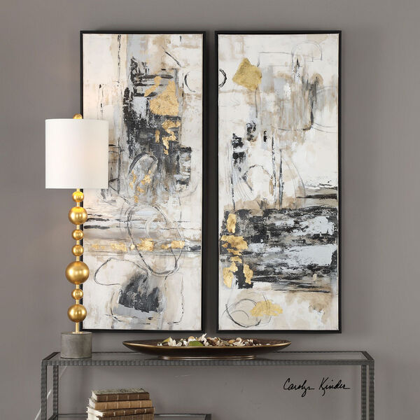 Life Scenes Abstract Art, Set of Two, image 1