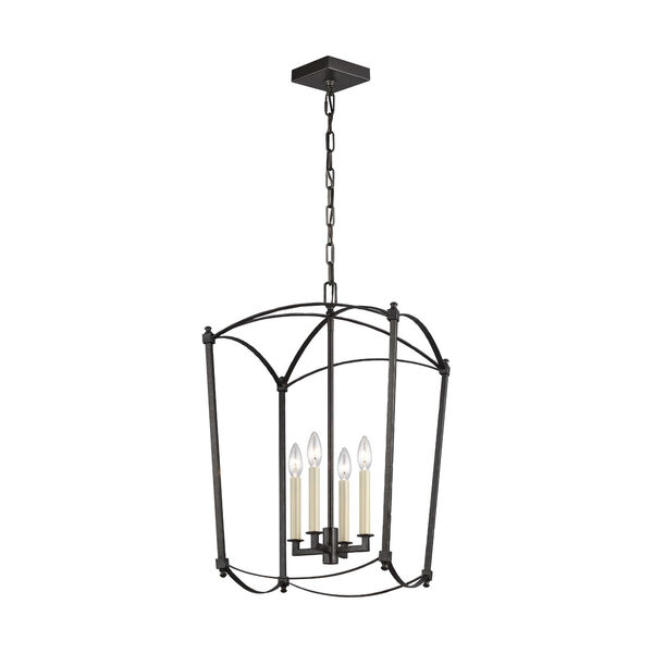 Thayer Smith Steel Four-Light Chandelier, image 1