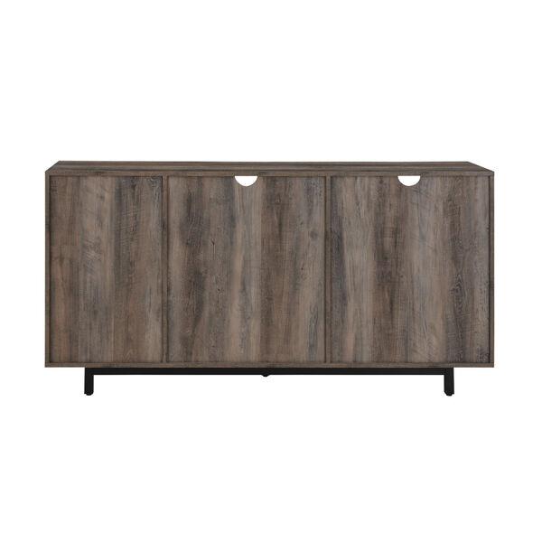 Wyatt Grey Wash Two Door Shelf Sideboard, image 6