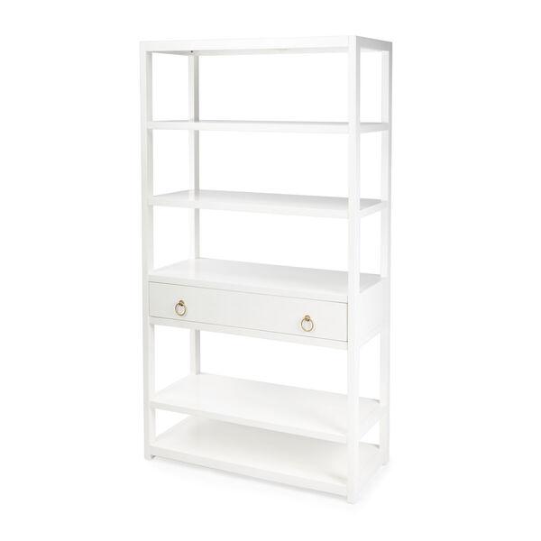 Lark White 39-Inch Rectangular Bookshelf, image 1