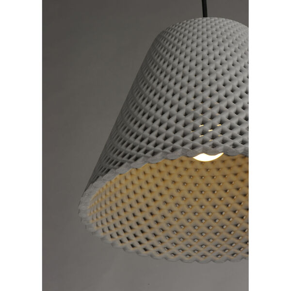 Woven Gray and Black One-Light Pendant, image 2