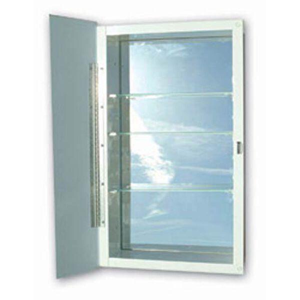 16 x 36 Polished Edge Mirror Recessed Steel Medicine Cabinet, image 1