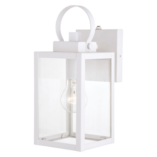 Medinah Textured White Five-Inch One-Light Outdoor Wall Sconce, image 1