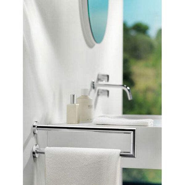 Kubic Cool Polished Chrome Bathroom Towel Holder, image 2