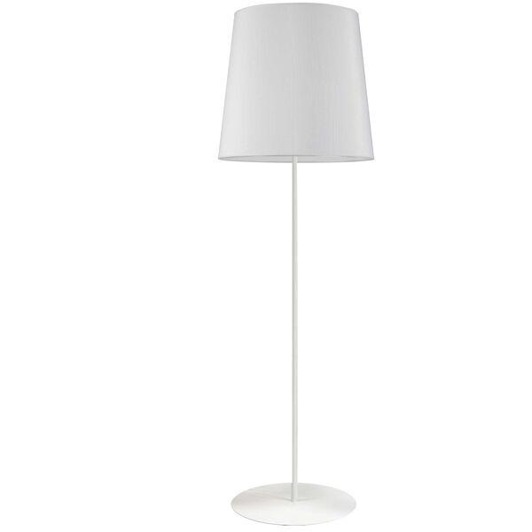 Matte White One-Light Minimalist Floor Lamp, image 1