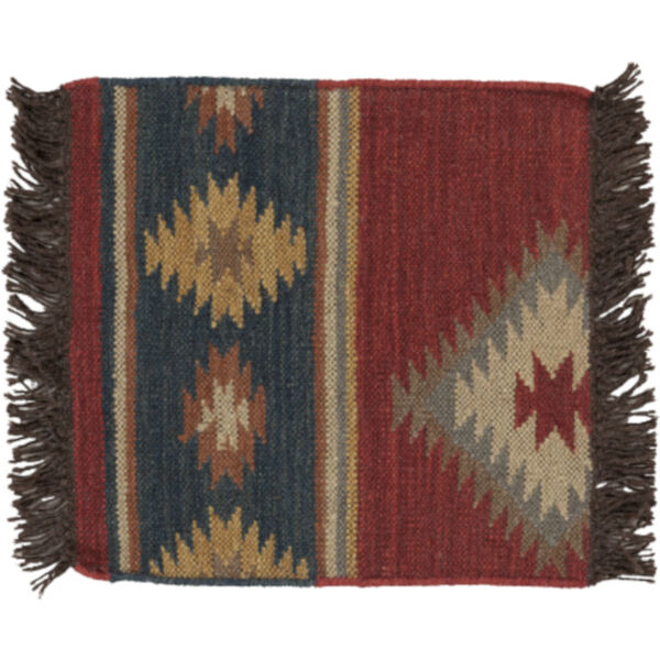 Jewel Tone Multicolor Rectangular Rug, image 1