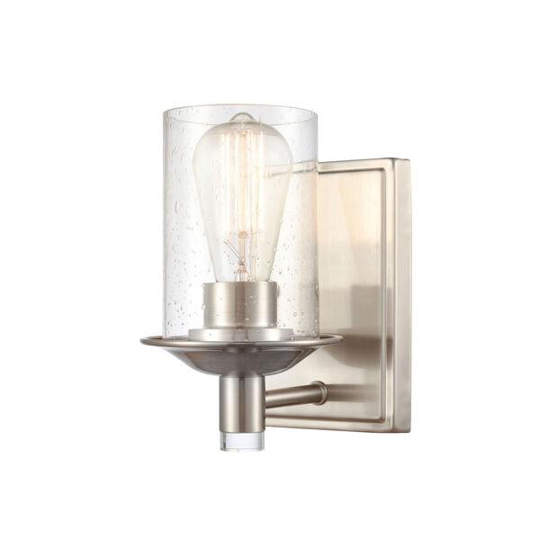 Manhattan Satin Nickel One-Light Bath Vanity, image 1