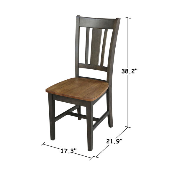 San Remo Hickory and Washed Coal Splatback Chair, Set of 2, image 5
