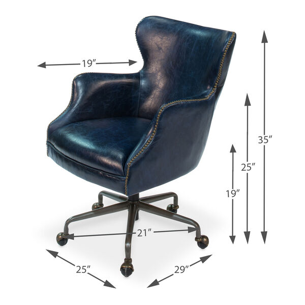 Blue Nevill Office Chair, image 7