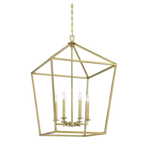 Townsend Warm Brass Six-Light Pendant, image 3