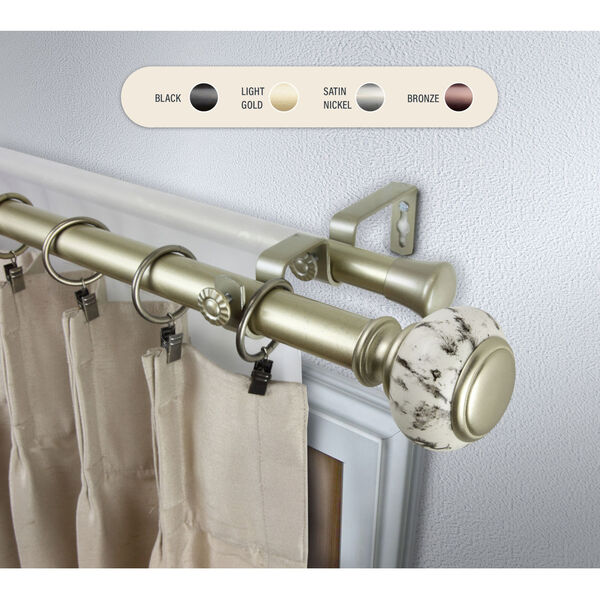 Kelly Gold 160-240 Inch Double Curtain Rod, image 1