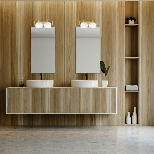 Cowen Brushed Gold Two-Light Bath Vanity, image 4