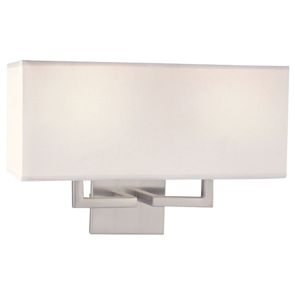 Brushed Nickel Two-Light Wall Sconce, image 1