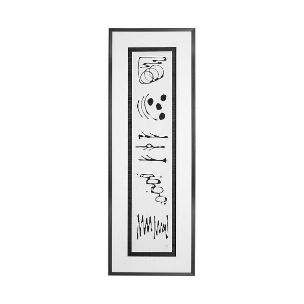 Black Ancient Notes II Wall Art, image 1