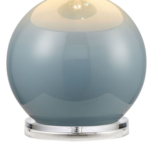 Culland Azure Blue and Polished Nickel One-Light Table Lamp, image 4