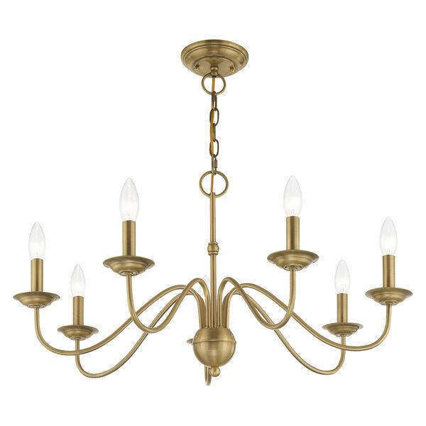 Windsor Antique Brass Seven-Light Chandelier, image 4