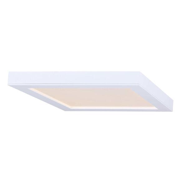 White 11-Inch LED Flush Mount, image 1
