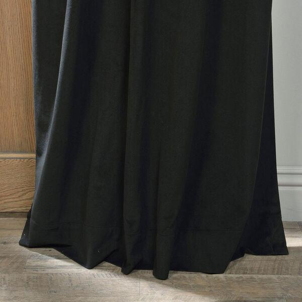 Signature Warm Black Blackout Velvet Pole Pocket Single Panel Curtain, 50 X 108, image 5