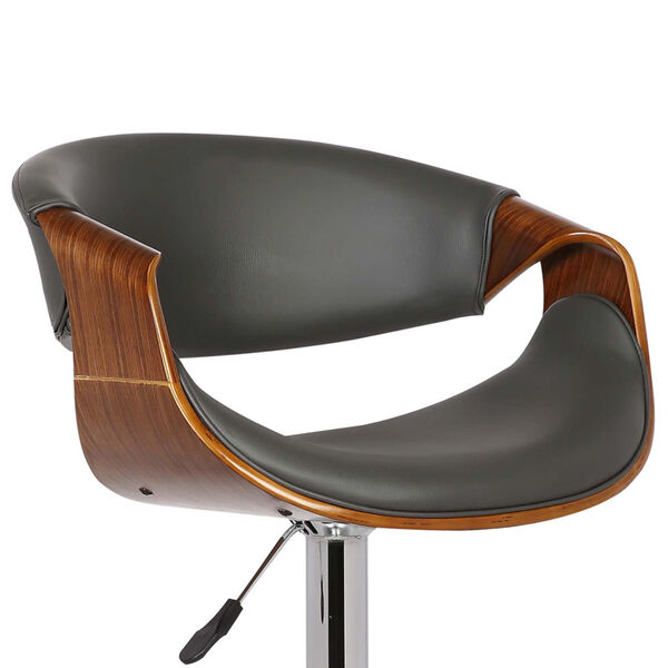 Butterfly Walnut and Gray 33-Inch Bar Stool, image 5