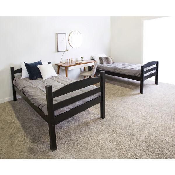 Solid Wood Bunk Bed - Black, image 3