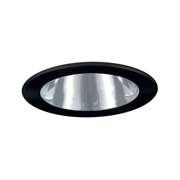 Chrome and Black 4-Inch Open Reflector Trim, image 1