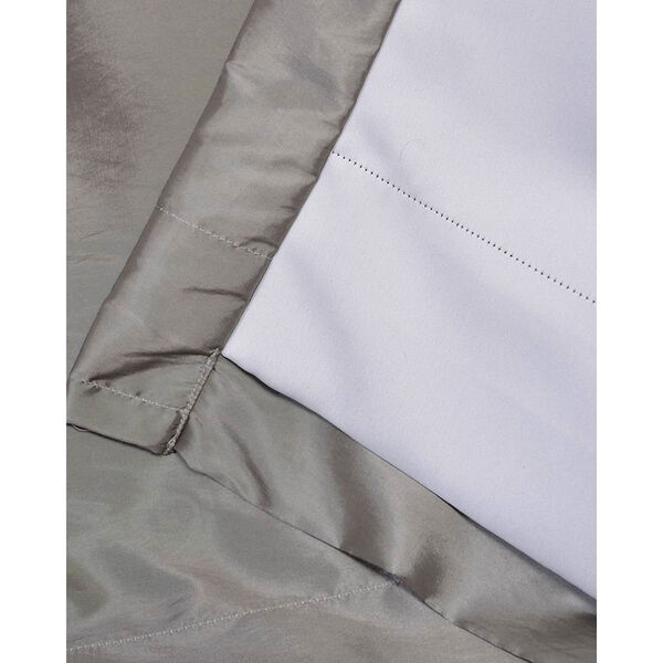 Platinum 96 x 50-Inch Grommet Blackout Faux Silk Taffeta Curtain Single Panel, image 5