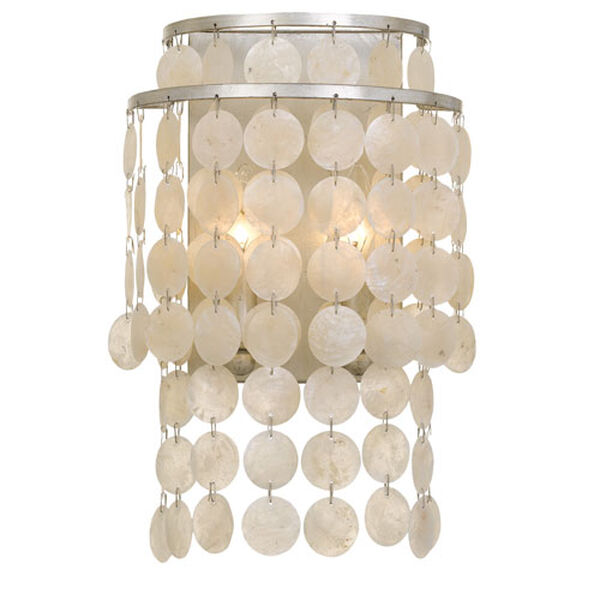 Camden Polished Nickel Two-Light Wall Sconce, image 1